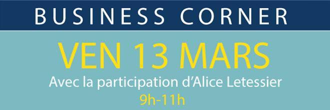Business Corner - 13 Mars 2015