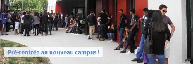 Pré-rentrée au nouveau campus !